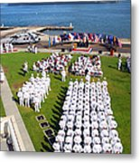 U.s. Navy Sailors Attend An Metal Print