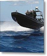 U.s. Navy Sailors Operate A Nine-meter Metal Print