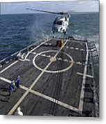 U.s. Navy Sailors Prepare To Attach Metal Print