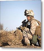 U.s. Navy Soldier Participates Metal Print