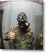 U.s. Navy Soldier Shows He Is Stable Metal Print