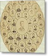U.s. Senators Who Voted Aye On The 13th Metal Print by Everett