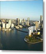 Usa, Florida, Miami, Downtown, Aerial View Metal Print