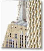 Usa, New York City, Detail Of Empire State Building Metal Print