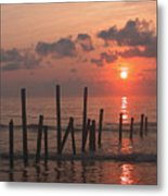 Usa, Pennsylvania, Scenic Sunset Over Sea Metal Print