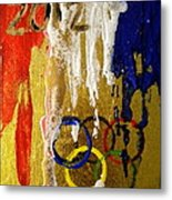 Usa Strives For The Gold Metal Print by Debi Starr