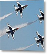 Usaf F-16 Thunderbirds Metal Print