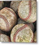 Used Baseballs Metal Print by Wade Aiken