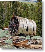 Used To Crush Ore Metal Print by Kirk Williams