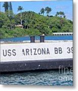 Uss Arizona Bb 39 Marker Metal Print