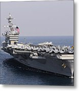 Uss Carl Vinson And Uss Bunker Hill Metal Print