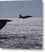 U.s.s. Coral Sea Aircraft Carrier Metal Print