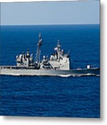 Uss Mobile Bay Transits The Pacific Metal Print