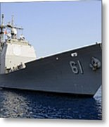 Uss Monterey Arrives Metal Print