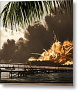 U S S Shaw Pearl Harbor December 7 1941 Metal Print
