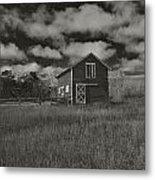 Utah Barn In Black And White Metal Print