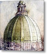 Utah Capitol Reconstruction Metal Print