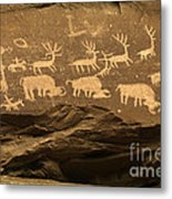 Utah Petroglyphs 1 Metal Print