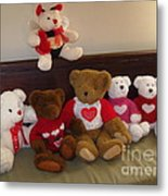 Valentine Bears  Metal Print
