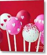 Valentine Cake Pops Metal Print