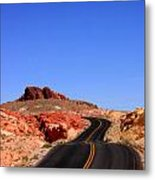 Valley Of Fire Road And Sky Nevada Metal Print
