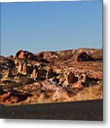 Valley Of Fire Winding Road Metal Print