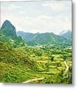 Valley Panorama Metal Print