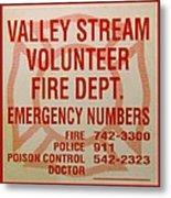 Valley Stream Fire Department Metal Print
