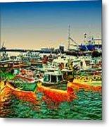 Valparaiso Boats Metal Print