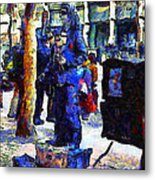 Van Gogh Is Captivated By A San Francisco Street Performer . 7d7246 Metal Print