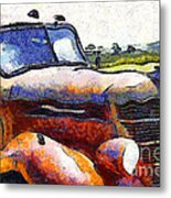 Van Gogh.s Rusty Old Truck . 7d15509 Metal Print by Wingsdomain Art and Photography