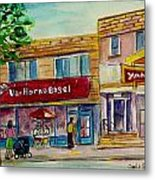 Van Horne Bagel With Yangzte Restaurant Metal Print