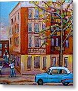 Van Horne Boulevard Montreal Street Scene Metal Print