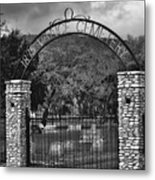 Vance Cemetery Black And White Metal Print