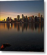 Vancouver Golden Sunrise Metal Print