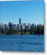 Vancouver Skyline Metal Print