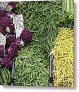 Variety Of Fresh Vegetables - 5d17898 Metal Print by Wingsdomain Art and Photography