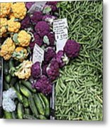 Variety Of Fresh Vegetables - 5d17900-long Metal Print