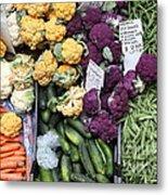 Variety Of Fresh Vegetables - 5d17900 Metal Print