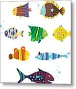Various Fishes Metal Print