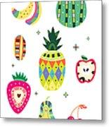 Various Kinds Of Fruit Metal Print