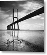 Vasco Da Gama Bridge I Metal Print