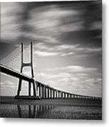 Vasco Da Gama Bridge IIi Metal Print