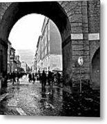 Vatican City Wall Rainy Metal Print