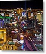 Vegas Strip At Night Metal Print
