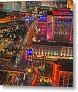 Vegas Strip Metal Print