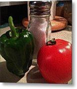 Veggies And Salt Metal Print