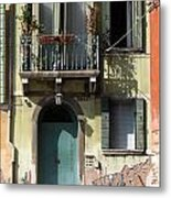 Venetian Doorway Metal Print