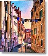 Venice Alleyway Metal Print