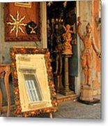 Venice Antique Shop Metal Print